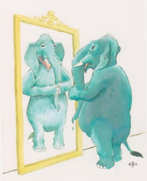 olifant voor spiegel 215